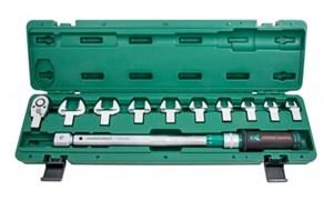 """Динамометрический ключ Jonnesway 1/2"""" DR, со сменными рожковыми насадками 13-30 мм и приводом, 40-200 Нм T30200NS"""