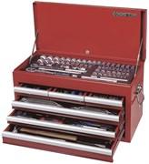 """Универсальный набор инструмента King Tony c выдвижным ящиком, 1/2"""", 1/4"""", 3/8""""DR, 219 предметов 911-000CR"""