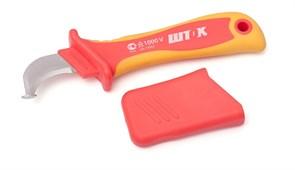 Кабельный нож с пяткой ШТОК для снятия изоляции, диэлектрический 14003