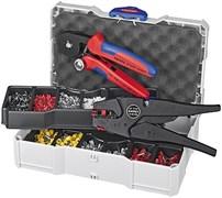 Набор кабельных наконечников с инструментом для опрессовки KNIPEX KN-979010