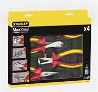 Набор из плоскогубцев и кусачек электрика MaxSteel VDE 1000V 4пр. Stanley 4-84-489
