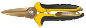 Ножницы по металлу STHT0-14103 лезвия с титановым покрытием Stanley 0-14-103