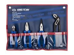Комплект шарнирно-губцевого инструмента 4 пр. KING TONY 42104GP01