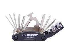 Универсальный набор для ремонта и обслуживания велосипедов, 16 предметов KING TONY 20A16MR