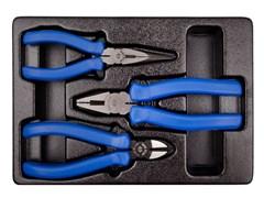 Комплект шарнирно-губцевого инструмента в лотке 3 пр. KING TONY 9-40103GP