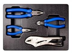 Комплект шарнирно-губцевого инструмента в лотке 4 пр. KING TONY 9-42144GP