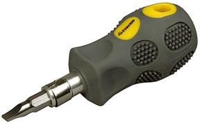 "Отвертка со сменным жалом Stayer ""Max Grip"" SL6.5/PH2 100мм 25853-H2 G"