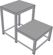 Алюминиевая монтажная подставка Н=600 2 ступени