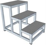 Алюминиевая монтажная подставка Н=750 3 ступени
