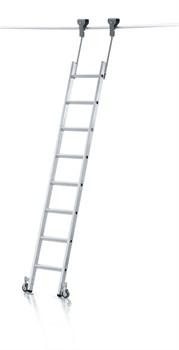 Стеллажная лестница Zarges Z600 трубчатая шина, 8 ступеней 41414 - фото 100117