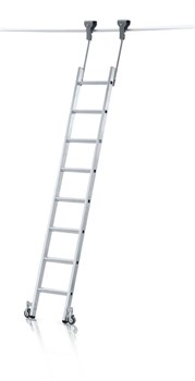 Стеллажная лестница Zarges Z600 трубчатая шина, 10 ступеней 41416 - фото 100119