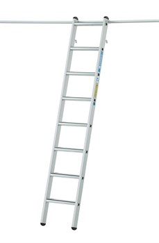 Стеллажная лестница Zarges Z600 с парой крюков, 14 ступеней 1041364 - фото 100130