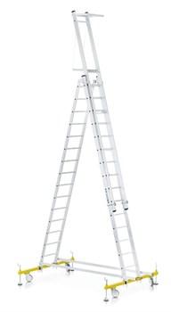 Алюминиевая трехсекционная лестница Zarges Z600 41346 - фото 100166