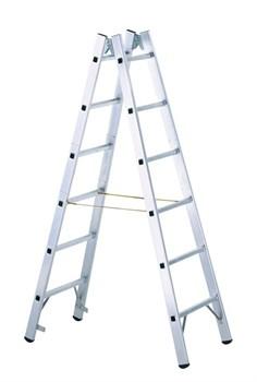 Двухсторонняя алюминиевая стремянка Zarges Z600 2x6 40311 - фото 100179
