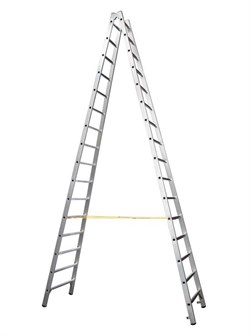 Двухсторонняя алюминиевая стремянка Zarges Z600 2x16 40316 - фото 100184