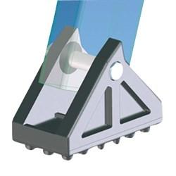 Пластиковая поворотная ножка с резиновой накладкой Zarges 100x55 мм 40997 - фото 100381