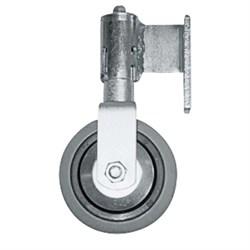 Подпружиненный поворотный ролик Zarges, диаметр 80 мм, слева 40218 - фото 100390