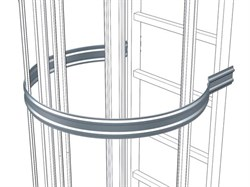 Анодированная страховочная скоба со стороны спины Zarges, D = 700 мм 41244 - фото 100426