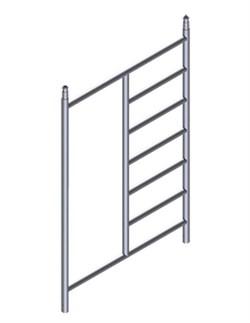 Приставная рама Zarges для вышек шириной 1,35 м, 7 перекладин 42928 - фото 100514