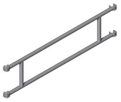 Перила Zarges для вышек Z600 длиной 2,5м, 42956 - фото 100523