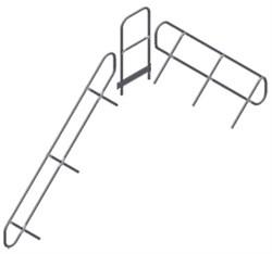 Поручень и перила площадки Zarges Z600, 11 ступеней, съемные 42359971 - фото 100786