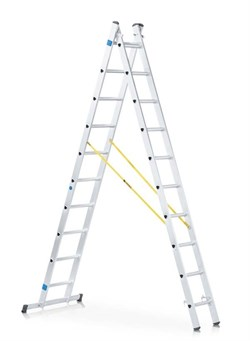 Двухсекционная раздвижная лестница-стремянка Zarges Z200 2x10 44870 - фото 100898