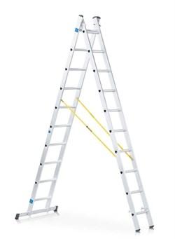 Двухсекционная раздвижная лестница-стремянка Zarges Z200 2x14 44874 - фото 100900