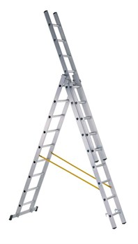 Алюминиевая трехсекционная лестница Zarges Z200 3x11 44841 - фото 100913