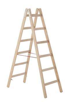 Двухсторонняя деревянная стремянка Zarges Z300 2х7 40107 - фото 101057