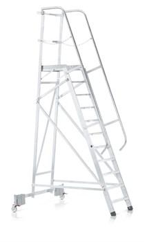 Передвижная лестница с платформой Zarges Z500 односторонняя, 11 ступеней 40241 - фото 101255