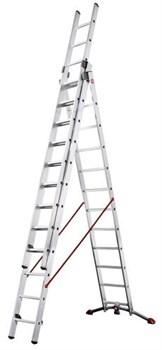 Алюминиевая трехсекционная лестница Hailo ProfiLOT 3х12 9312-507 - фото 101448