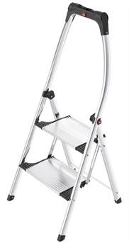 Алюминиевая стремянка Hailo LivingStep Comfort Plus 2 ступени 4302-301 - фото 101535