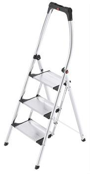 Алюминиевая стремянка Hailo LivingStep Comfort Plus 3 ступени 4303-301 - фото 101540