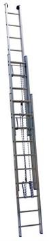 Алюминиевая выдвижная лестница Centaure PEC/PRС с тросом 3х18 342618/360618 - фото 101812