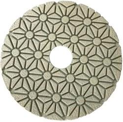 Алмазный гибкий шлифовальный круг Черепашка 100 мм шаг 4 Trio-Diamond 500400 - фото 154989