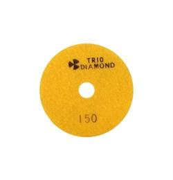 Алмазный гибкий шлифовальный круг Черепашка 100 мм №150 Trio-Diamond 340150 - фото 154994