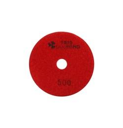 Алмазный гибкий шлифовальный круг Черепашка 100 мм №500 Trio-Diamond 340500 - фото 154998