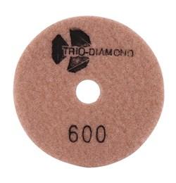 Алмазный гибкий шлифовальный круг Черепашка 100 мм №600 Trio-Diamond 340600 - фото 154999