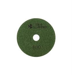 Алмазный гибкий шлифовальный круг Черепашка 100 мм №800 Trio-Diamond 340800 - фото 155000
