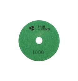 Алмазный гибкий шлифовальный круг Черепашка 100 мм №1000 Trio-Diamond 341000 - фото 155001