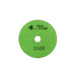 Алмазный гибкий шлифовальный круг Черепашка 100 мм №2000 Trio-Diamond 342000 - фото 155003