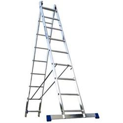 Лестница алюминиевая двухсекционная Алюмет 2х8 5208 - фото 15557