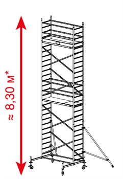 Алюминиевая вышка-тура Krause ProTec 8,3м 910165 - фото 157143