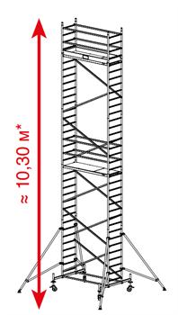 Алюминиевая вышка-тура Krause ProTec 10,3м 910189 - фото 157145