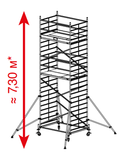 Алюминиевая вышка-тура Krause ProTec XXL 7,3м 911155 - фото 157152