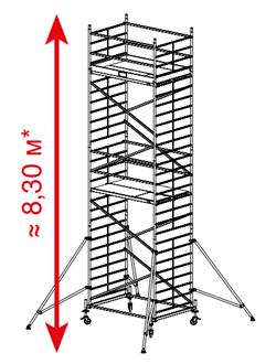 Алюминиевая вышка-тура Krause ProTec XXL 8,3м 911162 - фото 157153