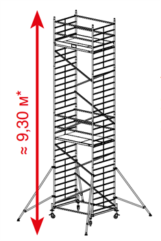 Алюминиевая вышка-тура Krause ProTec XXL 9,3м 911179 - фото 157154
