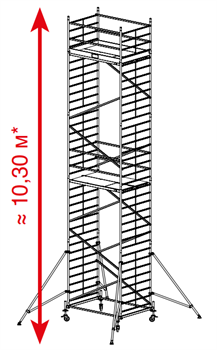 Алюминиевая вышка-тура Krause ProTec XXL 10,3м 911186 - фото 157155