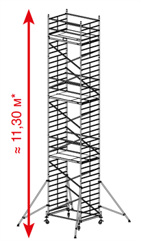 Алюминиевая вышка-тура Krause ProTec XXL 11,3м 911193 - фото 157156