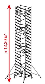 Алюминиевая вышка-тура Krause ProTec XXL 12,3м 911209 - фото 157157